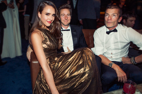 Jessica Alba, Edward Norton & friend
