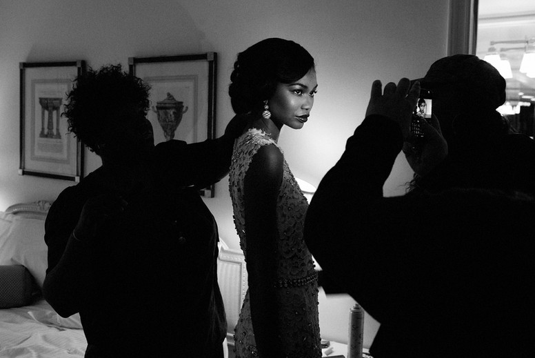 "Chanel Iman, ""Getting Ready"""