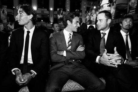 Rafael Nadal, Roger Federer, Andy Roddick & Juan Carlos Ferrero, US Open gala