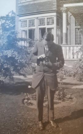 Vincent Taking Photographs, c. 1920's