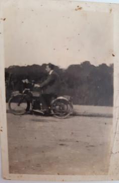 Vincent on motorbike