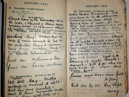 Alice. Jan 9th - 15th, 1921.