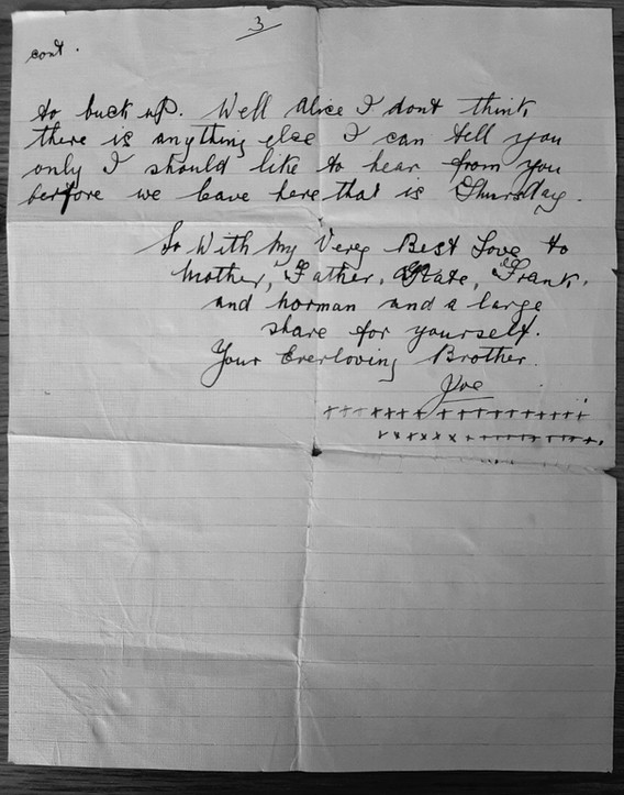 Letter from Joe to Alice