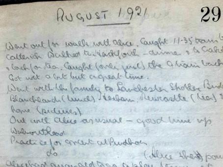 Vincent. 1st - 5th August, 1921