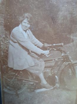 Alice on Motorbike, c.1923