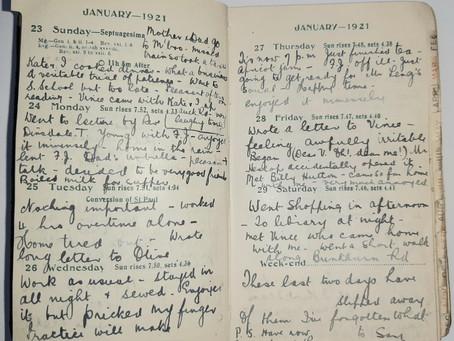 Alice. Jan 23rd - 29th, 1921.