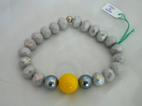 Bracciale elastico grigio