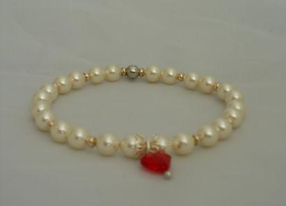 bracciale in perle swarovski
