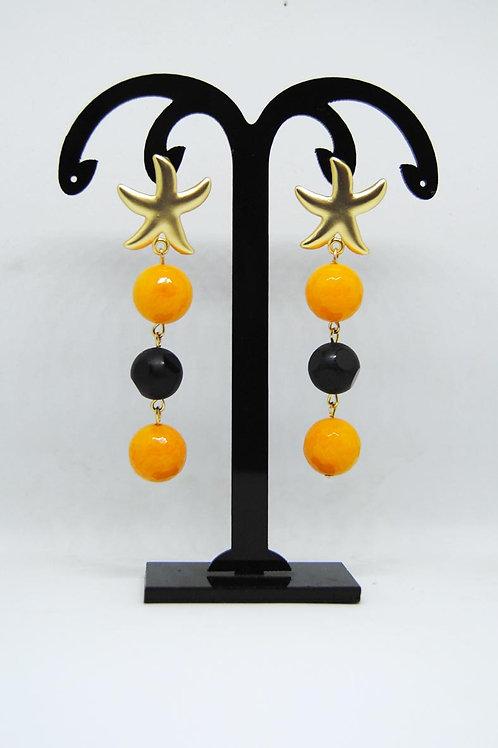 Orecchini nero e arancio