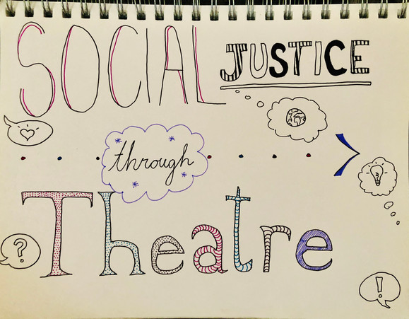 Social Justice through Theatre Poster: SPED 6-12th Grade