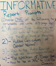 Informative Report Prompts: 5th Grade