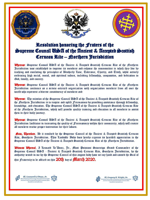 Resolution Honoring Certificate (NORTH)-