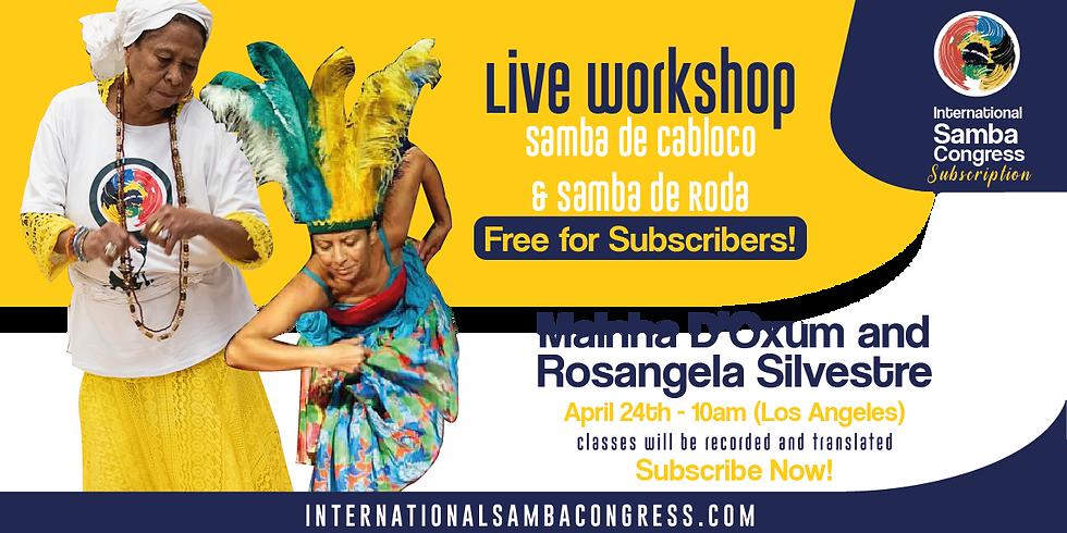 Workshop Online With Mainha D'Oxum e Rosangela Silvestre (1)