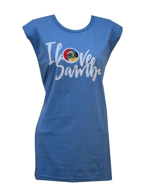 T-Shirt Blue ILoveSamba