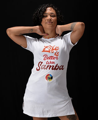 NEW! T-shirt LIFE IS BETTER WITH SAMBA
