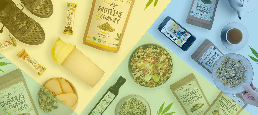 hello joya marque chanvre green leaf company innovation alimentaire what the hemp monoprix