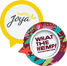 Logo green leaf company hello joya what the hemp produits alimentaire innovant chanvre made in france