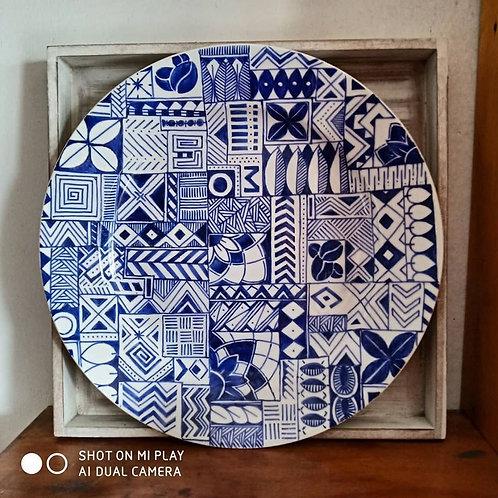Assiette bleu Mer - Idées d'Archi