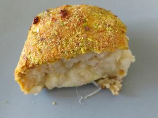 Arancini aux artichaut et pistaches