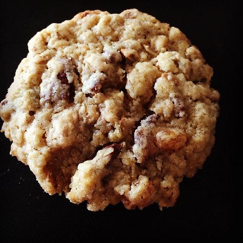 Cookies Oatmeal, Raisins, Noix
