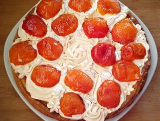 Tarte amandine/Inspiration amande/abricots