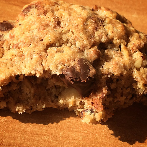 Cookies chocolat noir et noisettes