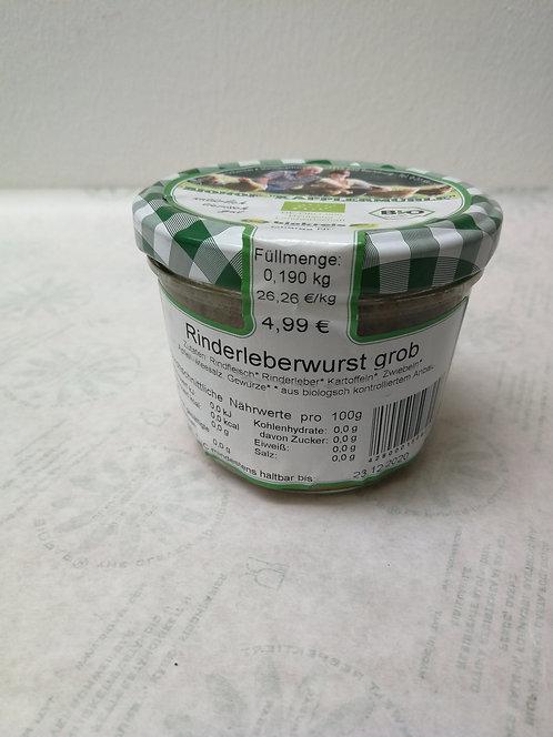 Rinderleberwurst grob, 190g