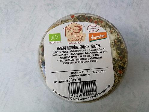 Ziegenfrischkäse Pikante Kräuter, ca. 150g-180g