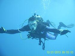 Scuba diver diving in the ocean