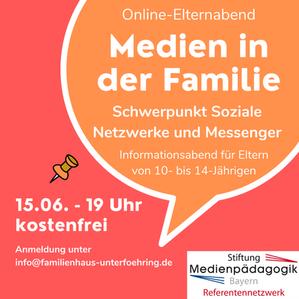 Online-Elternabend: Medien in der Familie - für Eltern von 10- bis 14-Jährigen