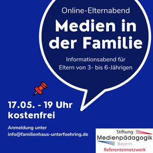 Online-Elternabend: Medien in der Familie - für Eltern von 3- bis 6-Jährigen