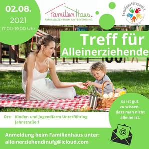 Treff für Alleinerziehende: Picknick am 2.8.2021