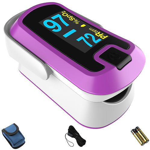 MIBEST Purple Dual Color OLED Finger Pulse Oximeter