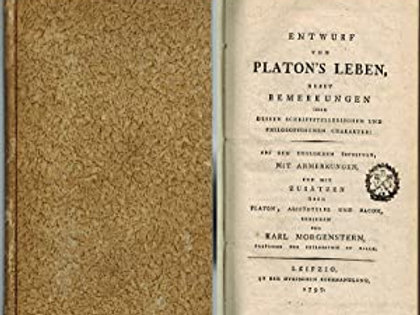 Entwurf zu Platon s Leben / K. Morgenstern