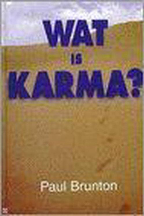 Wat is karma / P. Brunton