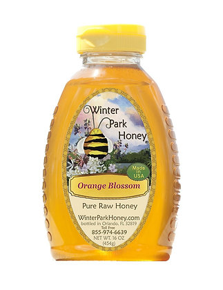 Orange Blossom Raw Honey 16oz