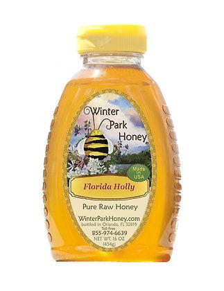 Galberry Raw Honey 16oz (Holly Honey)