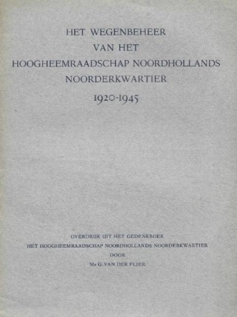 Het Hoogheemraadschap Noordhollands Noorderkwartier, 1920-1945