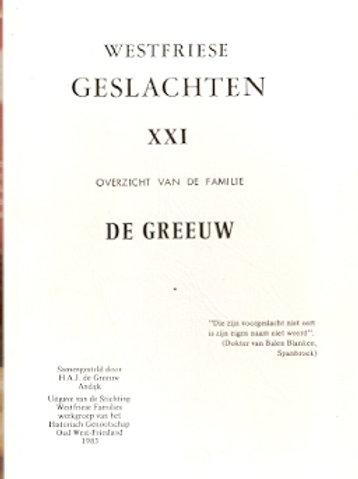 Westfriese geslachten De Greeuw.