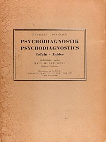 Hermann Rorschach - Psychodiagnostik/Psychodiagnostics Taflen-Tables