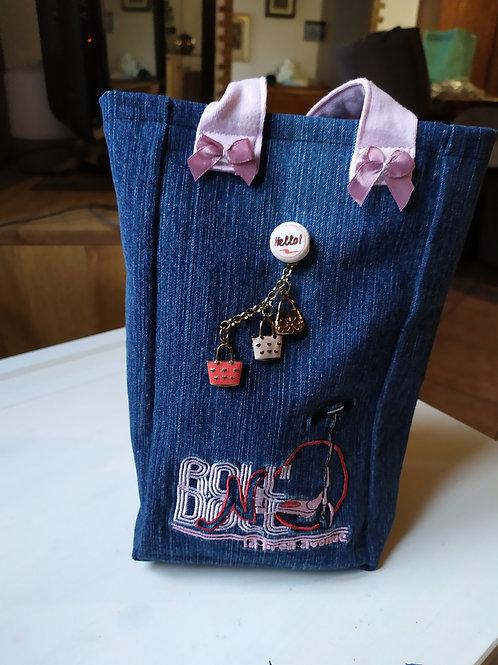 Mini sac en jeans broloc