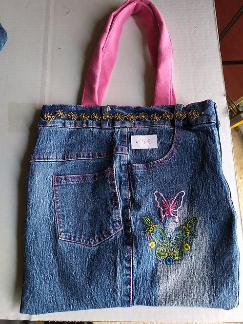Sac en jeans papillon