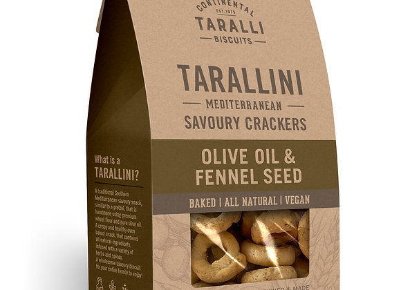 TARALLINI - Olive Oil & Fennel Seeds (125gr)
