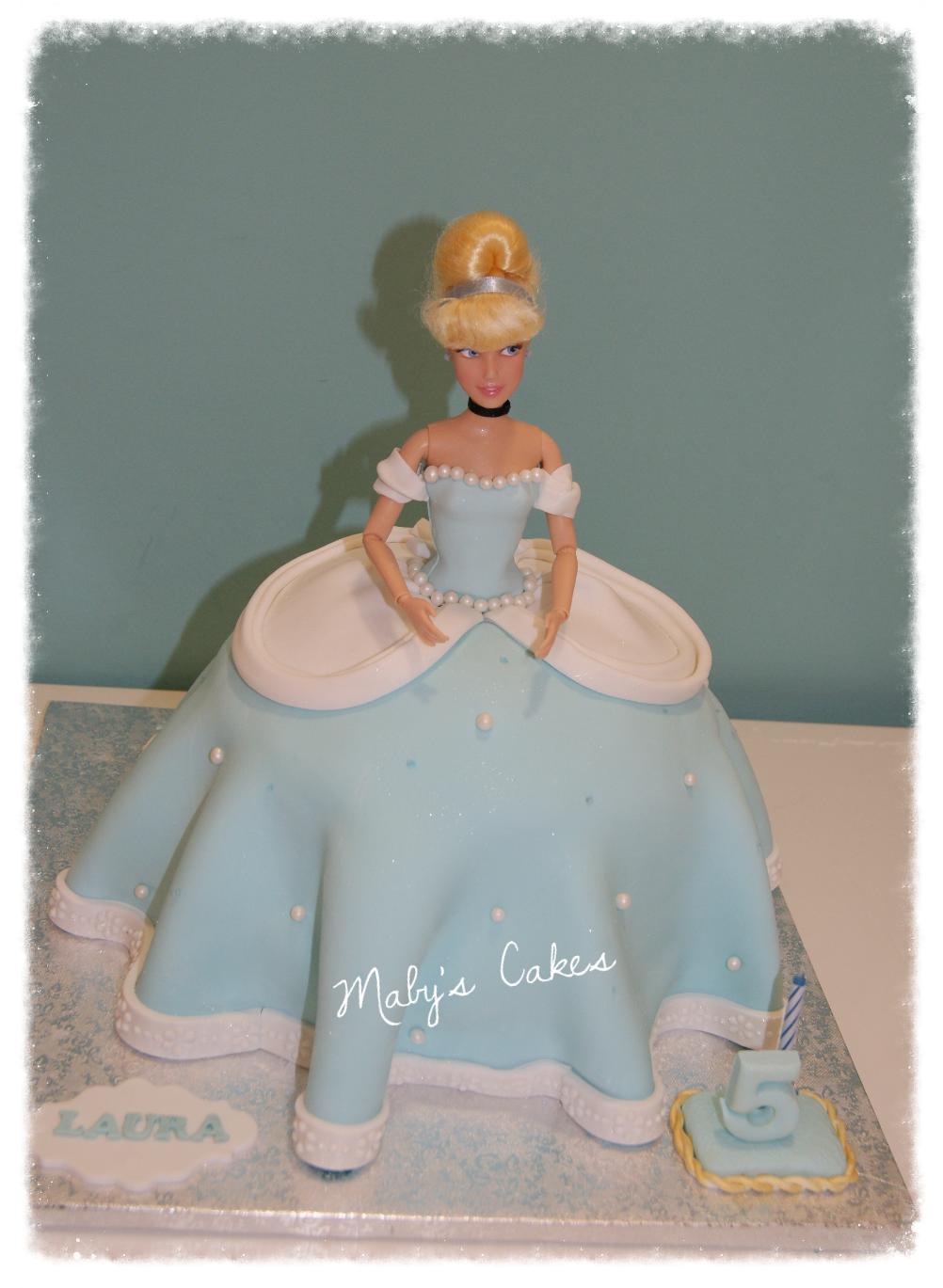 Tarta Cenicienta          Tarta Sabadell Terrassa fondant tarta personalizada