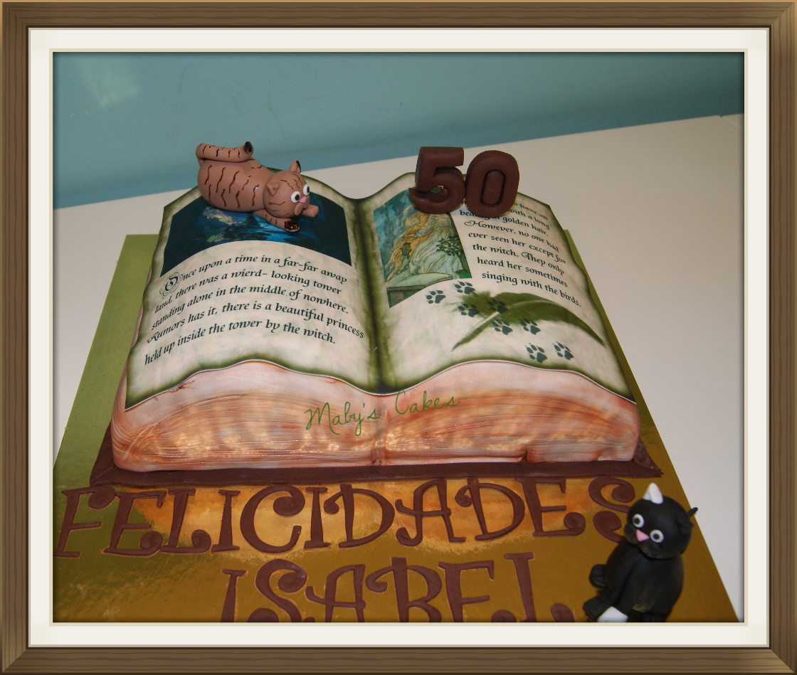 Tarta Libro      Tarta Sabadell Terrassa fondant tarta personalizada