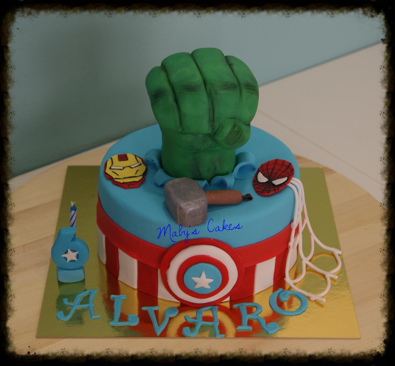 Tarta Hulk Vengadores