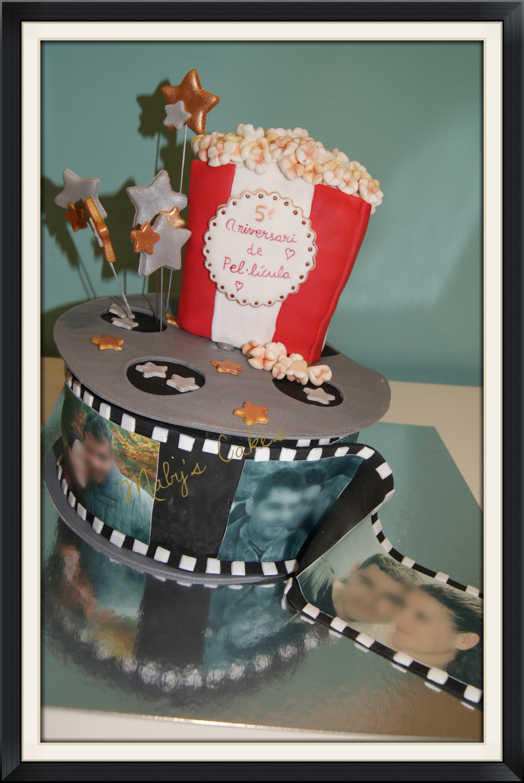 Tarta Cine     Tarta Sabadell Terrassa fondant tarta personalizada