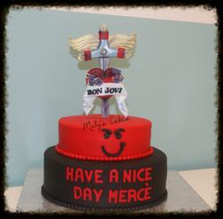 Tarta  Bon Jovi  pastis fondant tarta pastel  sabadell terrassa rubi sant quirze sant cugat cupcakes