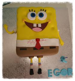 Tarta Bob Esponja      Sabadell Terrassa fondant tarta personalizada Bob esponja