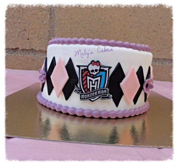 Tarta Escudo Monster High